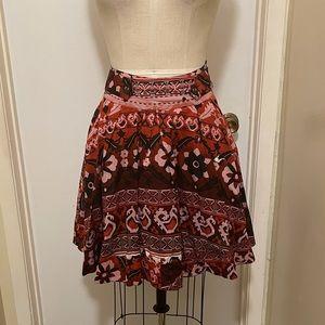 Twenty One Floral Aztec Printed Flared Skirt